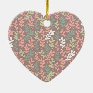 Ornamento De Cerâmica Seamless leaves pattern