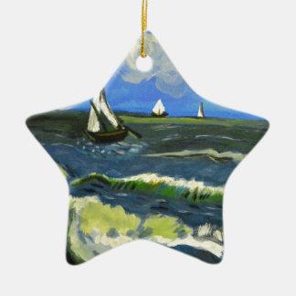 Ornamento De Cerâmica Seascape em Saintes-Maries, Van Gogh