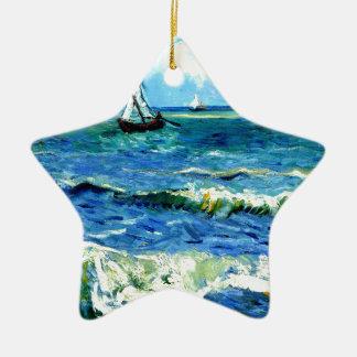 Ornamento De Cerâmica Seascape em Saintes-Maries, Vincent van Gogh