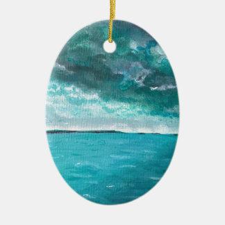 Ornamento De Cerâmica Seascape tormentoso