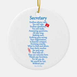 Ornamento De Cerâmica Secretário Agradecimento Você