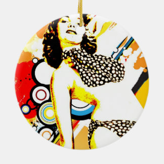 Ornamento De Cerâmica Sedução nostálgica - polca Dottie