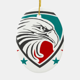 Ornamento De Cerâmica Segurança e proteção da águia americana
