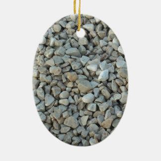 Ornamento De Cerâmica Seixos na fotografia da pedra da praia