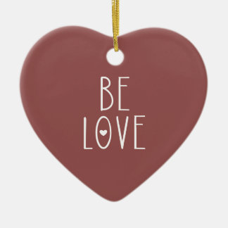 Ornamento De Cerâmica Seja amor