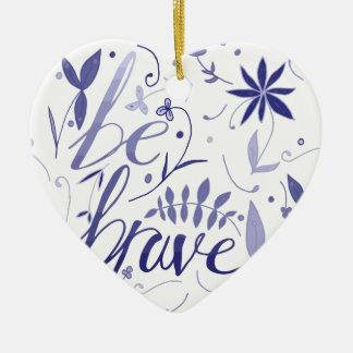 Ornamento De Cerâmica Seja azul bravo