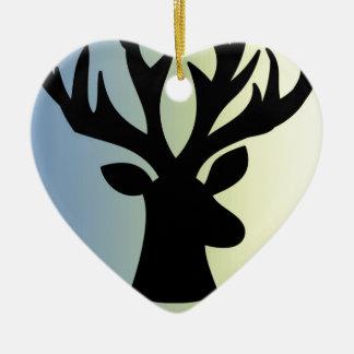 Ornamento De Cerâmica Seja sombra brava da cabeça dos cervos