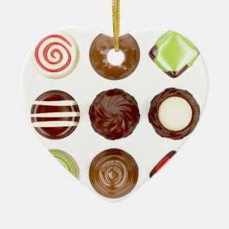 Ornamento De Cerâmica Seleção de doces de chocolate