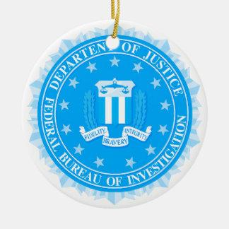 Ornamento De Cerâmica Selo do FBI no azul