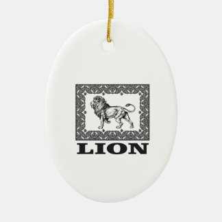 Ornamento De Cerâmica selo do leão
