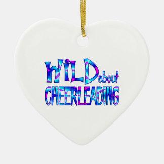 Ornamento De Cerâmica Selvagem sobre Cheerleading