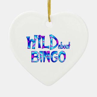 Ornamento De Cerâmica Selvagem sobre o Bingo