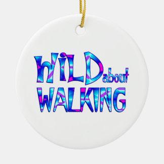 Ornamento De Cerâmica Selvagem sobre o passeio