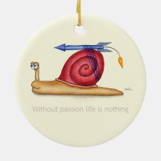 Ornamento De Cerâmica Sem paixão a vida não é nada