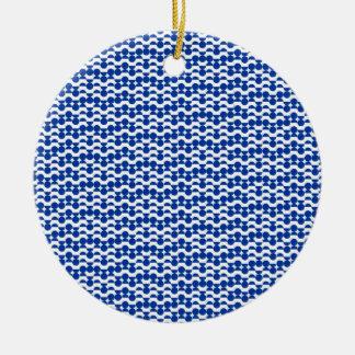 Ornamento De Cerâmica semi mosaico do azul do círculo