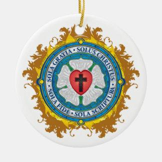 """Ornamento De Cerâmica """"Senhor cristão CRISTÃO de Jesus do rosa de Luther"""