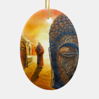 Ornamento De Cerâmica Senhor Gautama Buddha