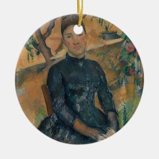 Ornamento De Cerâmica Senhora Cézanne (Hortense Fiquet, 1850-1922)