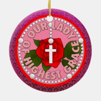 Ornamento De Cerâmica Senhora da benevolência a mais alta