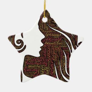 Ornamento De Cerâmica Senhora de fascínio