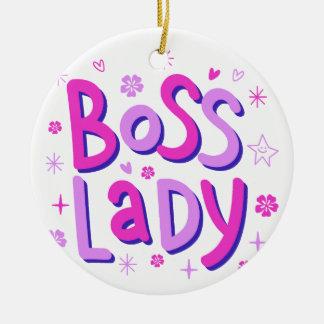 Ornamento De Cerâmica Senhora do chefe
