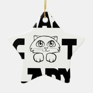 Ornamento De Cerâmica senhora louca do gato