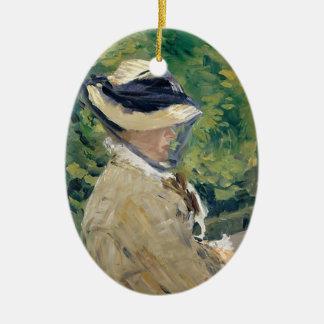 Ornamento De Cerâmica Senhora Manet (Suzanne Leenhoff, 1830-1906)