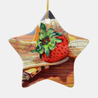 Ornamento De Cerâmica Separação de banana da morango