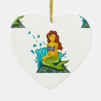 Ornamento De Cerâmica sereia do emoji