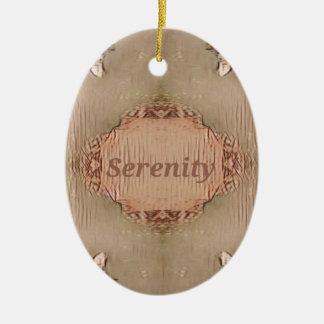 Ornamento De Cerâmica Serenidade moderna do pêssego chique de Tan claro