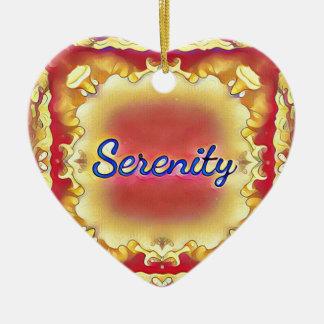 Ornamento De Cerâmica Serenidade quadro inspirada do amarelo vibrante do