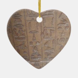 Ornamento De Cerâmica Série dos Hieroglyphics