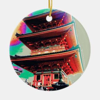 Ornamento De Cerâmica Série psicadélico do pagode de Japão