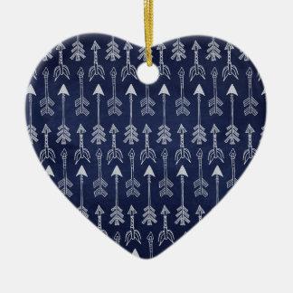 Ornamento De Cerâmica Seta azul