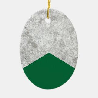 Ornamento De Cerâmica Seta concreta Forest Green #326