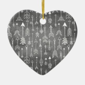 Ornamento De Cerâmica Seta do quadro (preto)