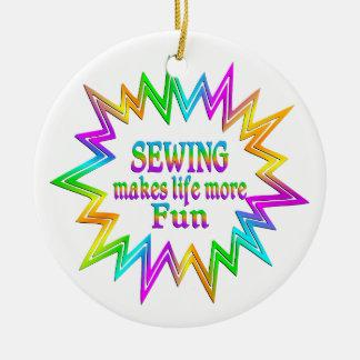 Ornamento De Cerâmica Sewing mais divertimento