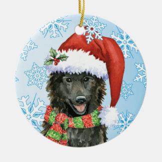 Ornamento De Cerâmica Sheepdog feliz do belga de Howlidays