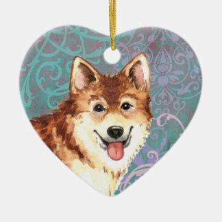 Ornamento De Cerâmica Sheepdog islandês elegante