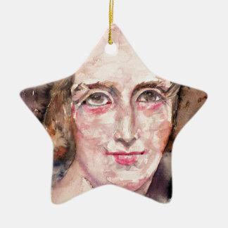 Ornamento De Cerâmica shelley de mary - retrato da aguarela