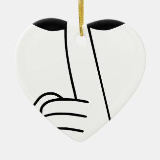 Ornamento De Cerâmica Shhh