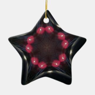 Ornamento De Cerâmica ShiningBlackstar