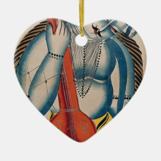 Ornamento De Cerâmica Shiva intoxicado que guardara o cordeiro