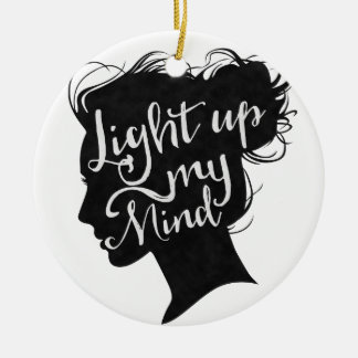 Ornamento De Cerâmica Silhouette - light up my mind