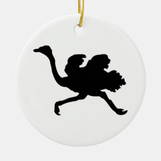 Ornamento De Cerâmica Silhueta da avestruz