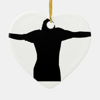 Ornamento De Cerâmica Silhueta da liberdade