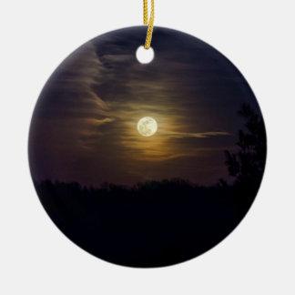 Ornamento De Cerâmica Silhueta da lua