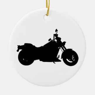 Ornamento De Cerâmica Silhueta da motocicleta