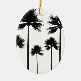 Ornamento De Cerâmica Silhueta da palmeira