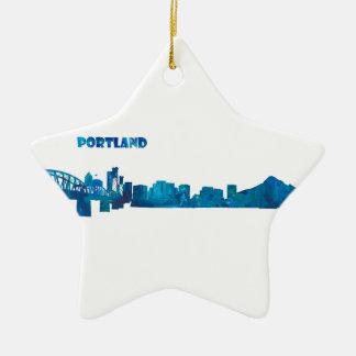 Ornamento De Cerâmica Silhueta da skyline de Portland